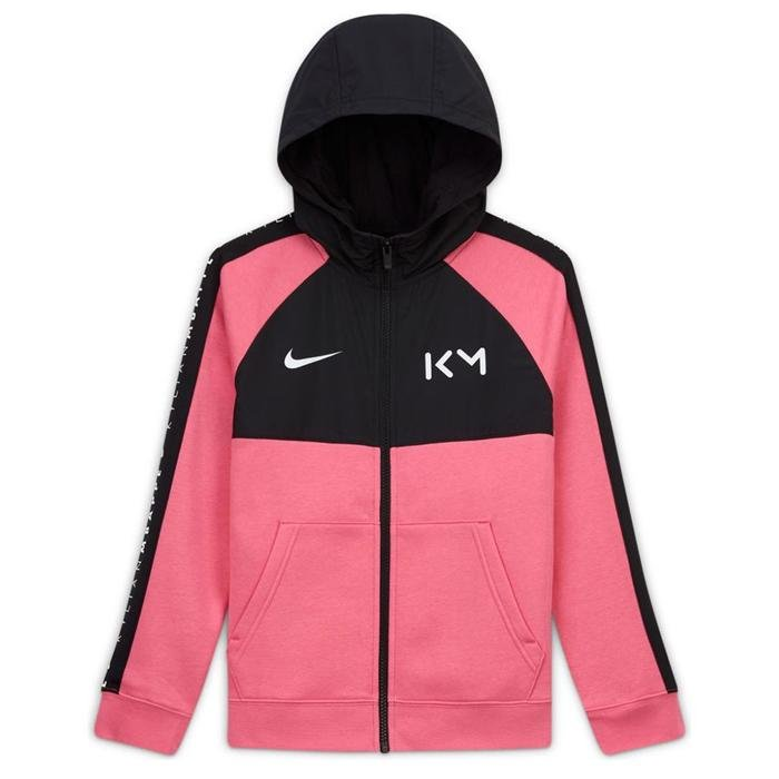 Km B Hybrid Flc Fz Hoodie Çocuk Kırmızı Futbol Sweatshirt CK5562-607 1212653
