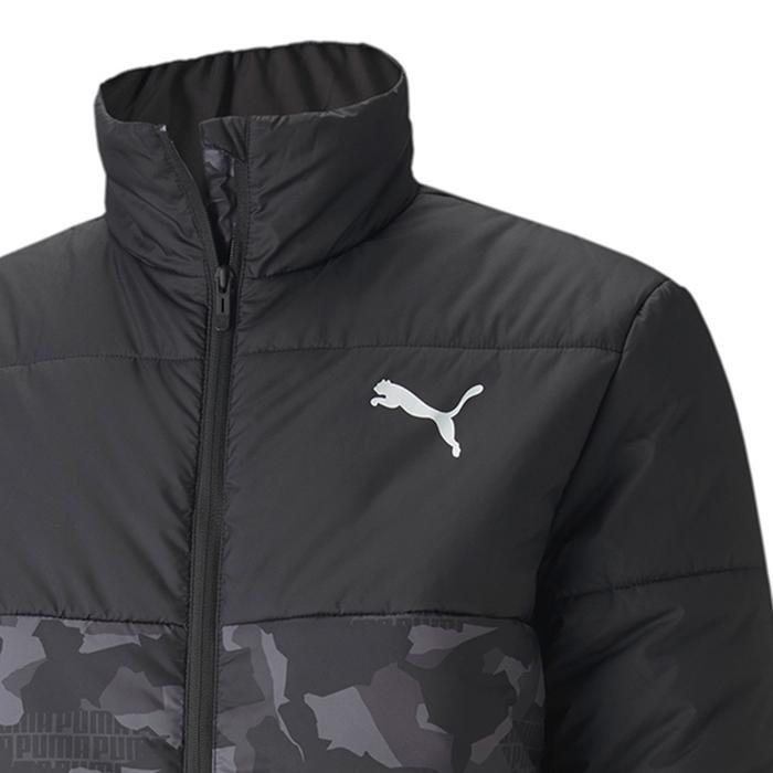 Ess Padded Graphic Jacket Erkek Siyah Günlük Mont 58315901 1214618
