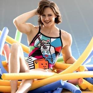 W Crazy Milkshake X Criss Cross Back One Piece Kadın Siyah Yüzücü Mayo 002832580