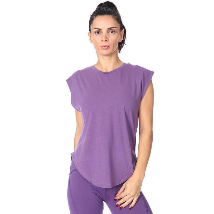 Kadın Mor Antrenman Tişörtü 711034-GUL 1158410