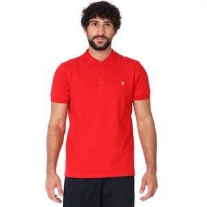 Pikepolo Erkek Kırmızı Günlük Stil Polo Tişört 711215-KRM