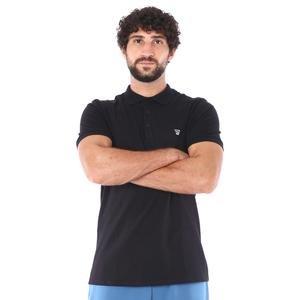 Pikepolo Erkek Siyah Günlük Stil Polo Tişört 711215-SYH