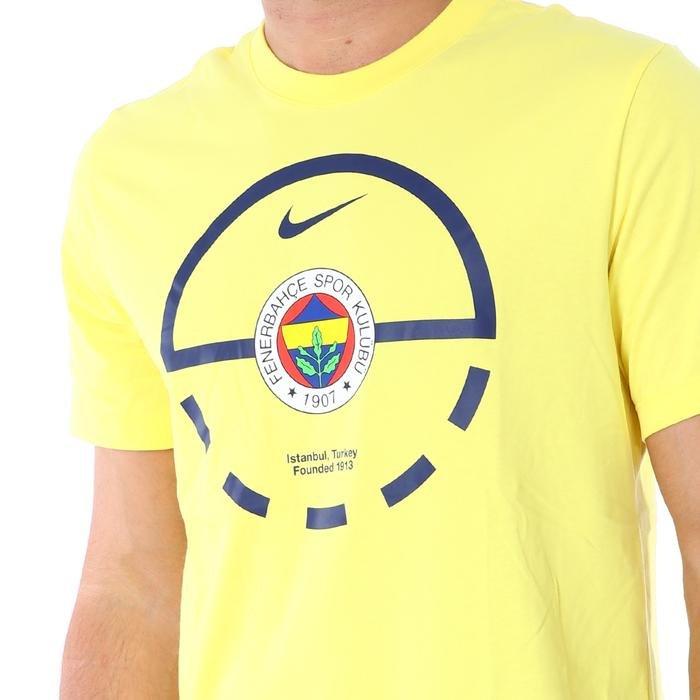Fen M Nk Dry Tee Ss Team Erkek Sarı Basketbol Tişört CZ3489-729 1211663