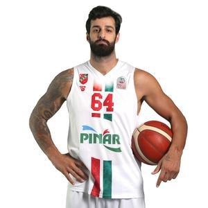 Karşıyaka Unisex Beyaz Basketbol Forma TKY100150-BYZ