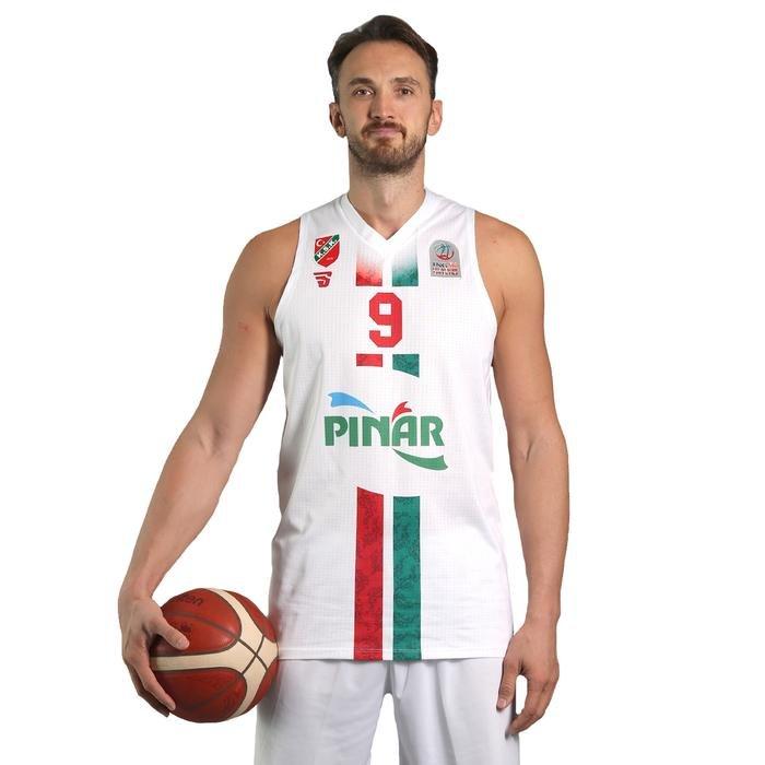 Karşıyaka Unisex Beyaz Basketbol Taraftar Forması TKY100150-BYZ 1236878