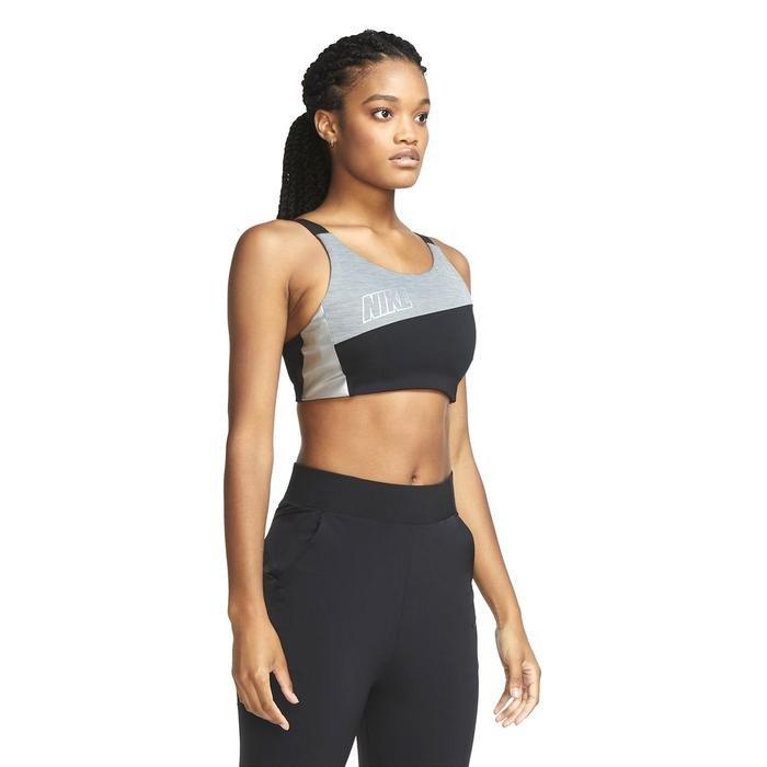 Swoosh Mtlc Logo Bra Pad Kadın Siyah Antrenman Sporcu Sütyeni CT3758-010 1233138