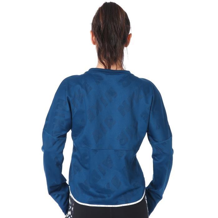 Air Midlayer Crew Kadın Mavi Koşu Uzun Kollu Tişört CJ1882-432 1174323