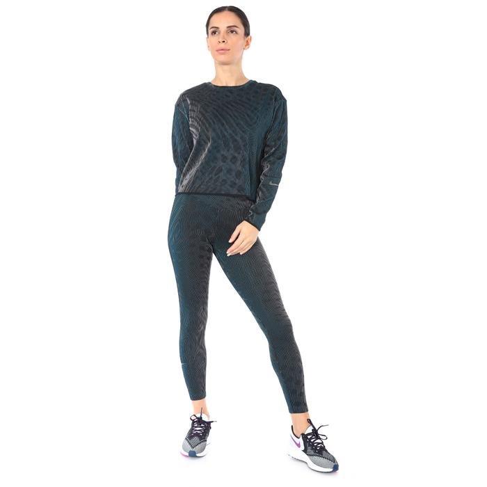Run Dvn Holoknit Mid Kadın Siyah Koşu Uzun Kollu Tişört CU6168-010 1212065