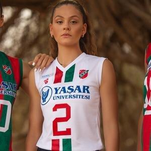 Karşıyaka Kadın Beyaz Voleybol Forma TKY100157-BYZ-KSK
