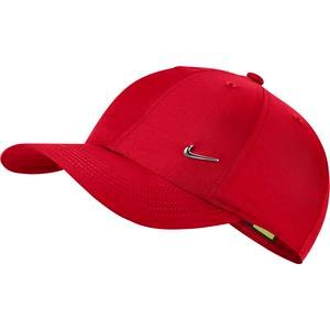 Y Nk H86 Cap Metal Swoosh Çocuk Kırmızı Günlük Stil Şapka AV8055-657