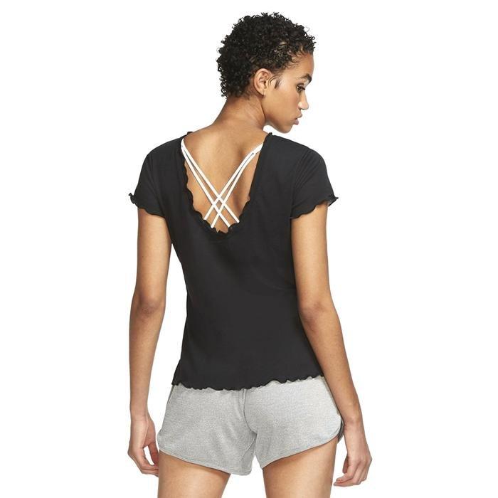 Yoga Core Cn Layer Vnr Ss Top Kadın Siyah Antrenman Tişört CU5383-010 1233545