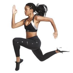 Indy Metallic Logo Kadın Siyah Antrenman Sporcu Sütyeni CT6710-010