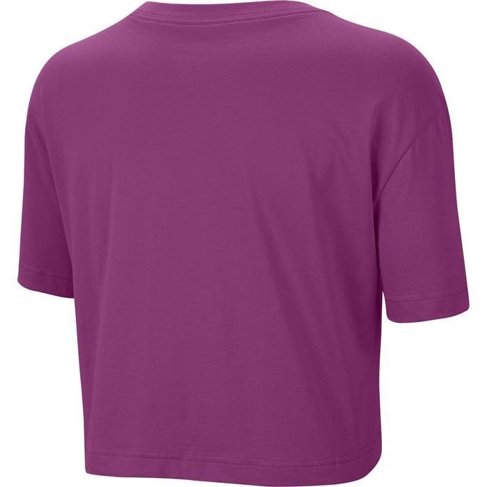 Sportswear Tee Essential Crop Kadın Mor Antrenman Tişörtü BV6175-564 1233890