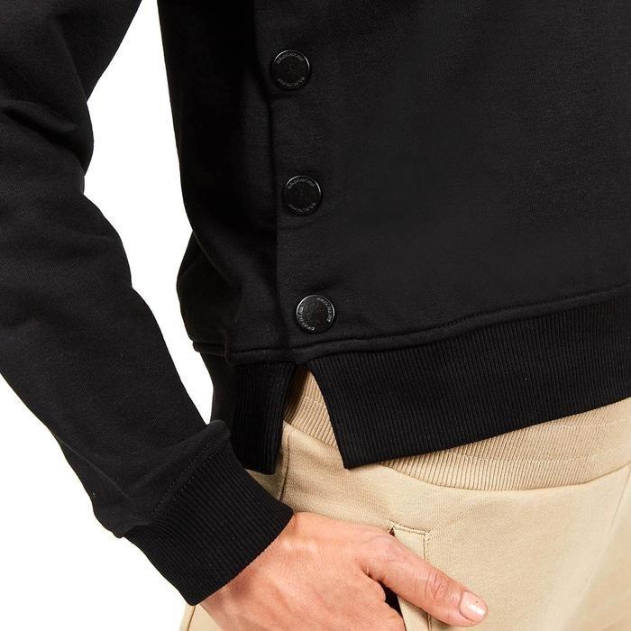 Lw Fleece W Long Snap Crew Neck Kadın Siyah Günlük Stil Sweatshirt S202032-001 1225170