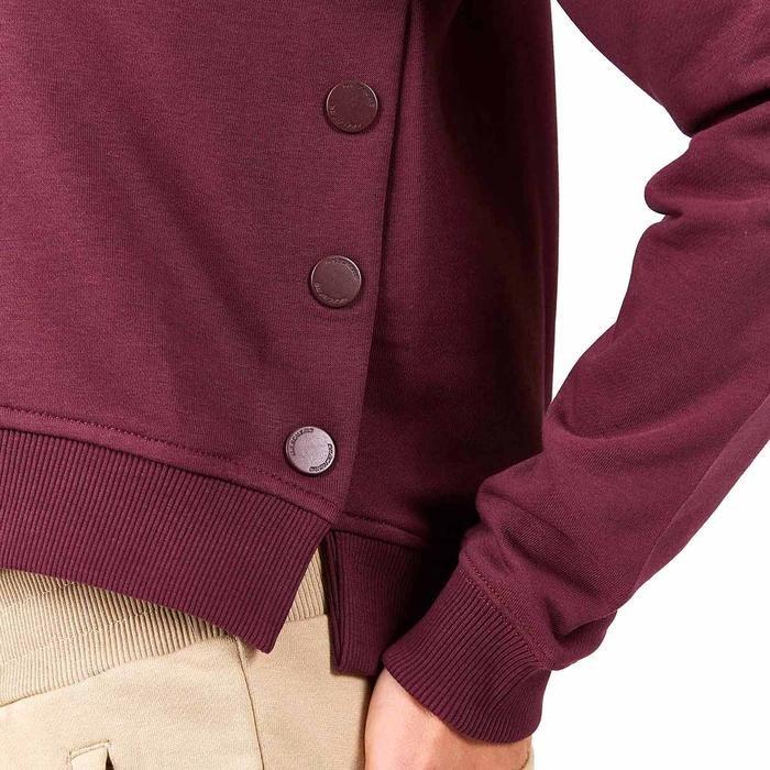 Lw Fleece W Long Snap Crew Neck Kadın Bordo Günlük Stil Sweatshirt S202032-500 1225179