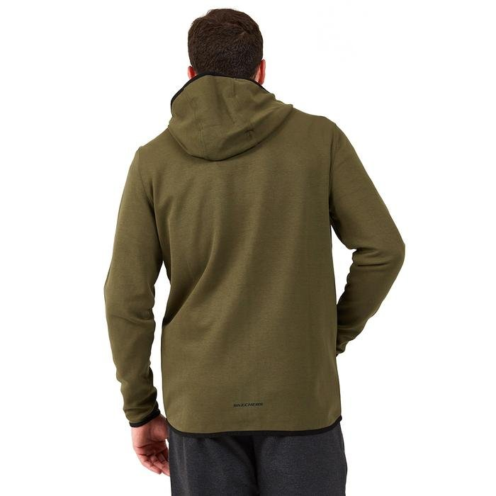 2X I-Lock M Printed Zip Erkek Haki Günlük Stil Sweatshirt S202095-801 1225166