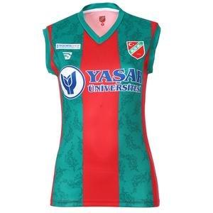 Karşıyaka Kadın Kırmızı Voleybol Forma TKY100157-CBK-KSK