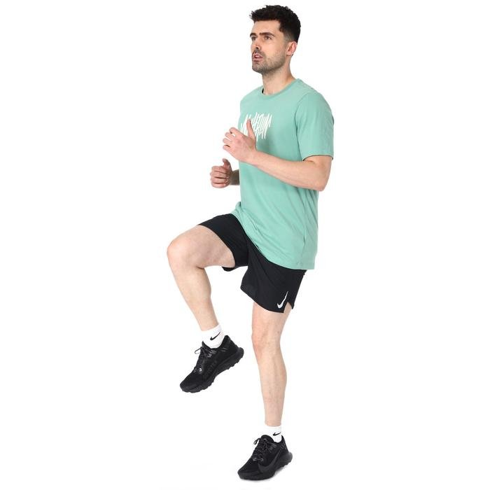 Dry Tee Wild Run Erkek Yeşil Koşu Tişört CW0949-316 1212286