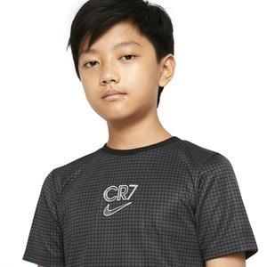 Cr7 B Nk Dry Top Ss Çocuk Siyah Futbol Tişört CT2975-060