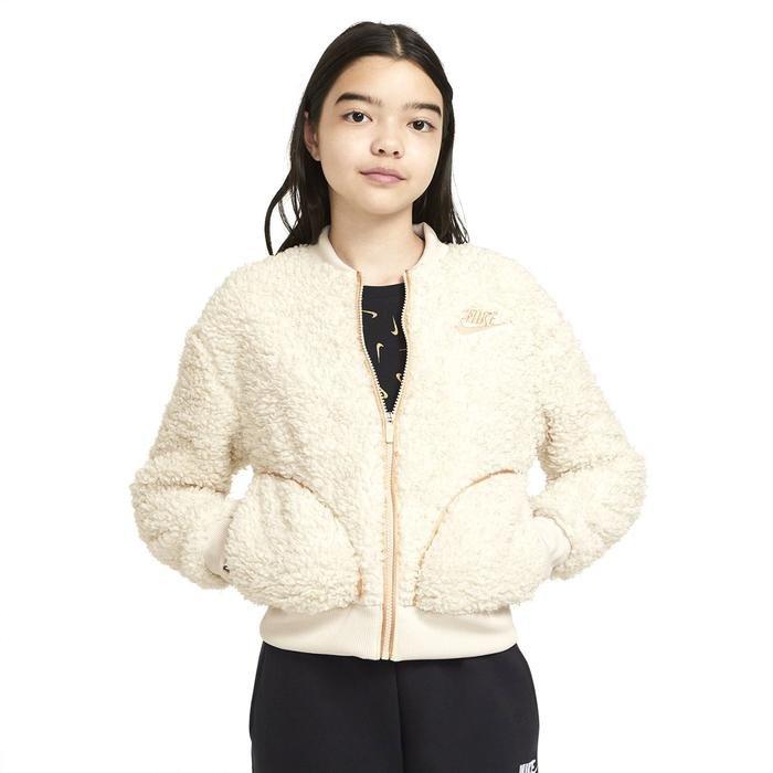 G Nsw Sherpa Shine Fz Bomr Pr Çocuk Beyaz Günlük Stil Ceket CU8567-104 1234140