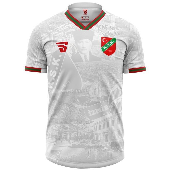 Karşıyaka 10 Kasım Kadın Beyaz Futbol Tişört TKY100160-BYZ 1237532