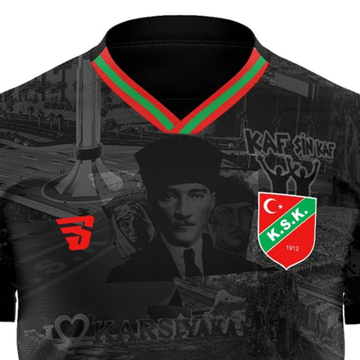 Karşıyaka Atatürk Çocuk Siyah Futbol Tişört TKY100161-SYH 1237553