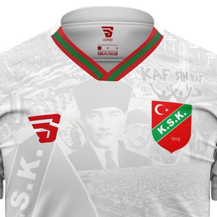 Karşıyaka Atatürk Çocuk Beyaz Futbol Tişört TKY100161-BYZ 1237546