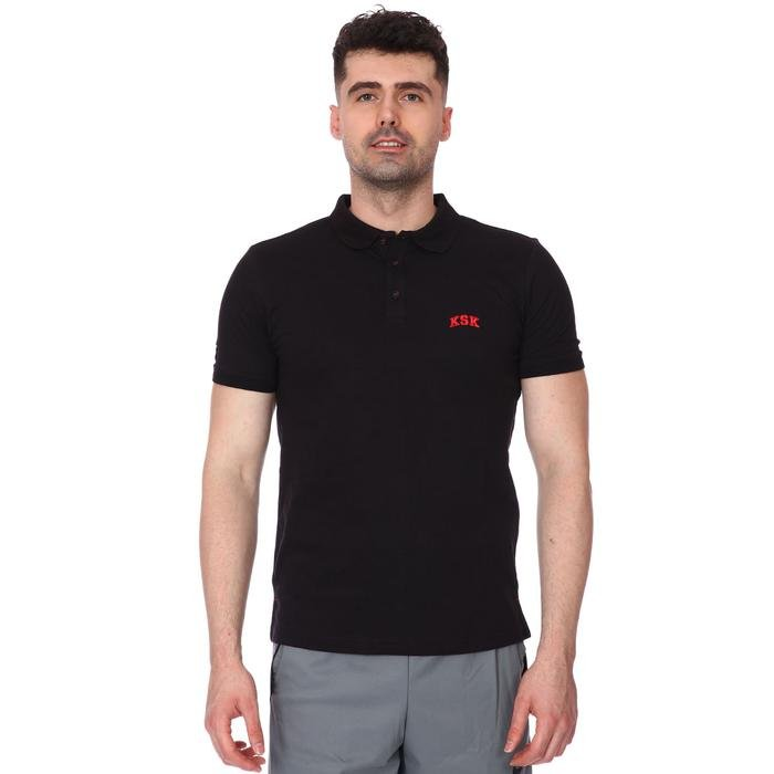 Karşıyaka Erkek Siyah Basketbol Polo Tişört TKY100136-SYH 1236340