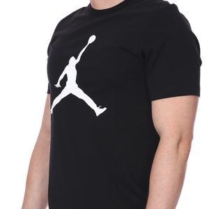 M Jordan NBA Jumpman Ss Crew Erkek Siyah Basketbol Tişört CJ0921-011