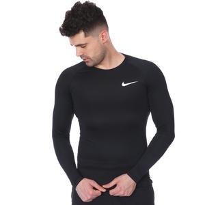 Pro Mens Top Ls Erkek Siyah Uzun Kollu Futbol Tişörtü BV5588-010