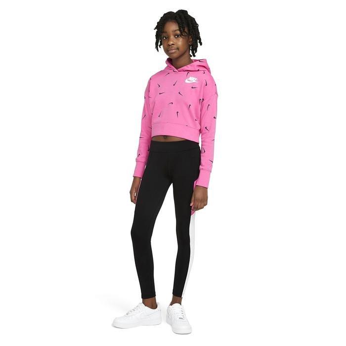 G Nsw Aop Crop Ft Hoodie Çocuk Pembe Günlük Stil Sweatshirt CZ2566-684 1234190