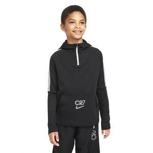 Cr7 B Nk Dry Dril Hoodie Çocuk Siyah Futbol Uzun Kollu Tişört CT2972-010