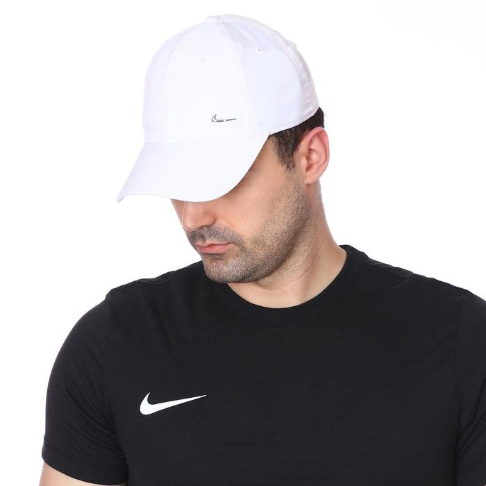 Metal Swoosh Unisex Beyaz Şapka 943092-100 1000249