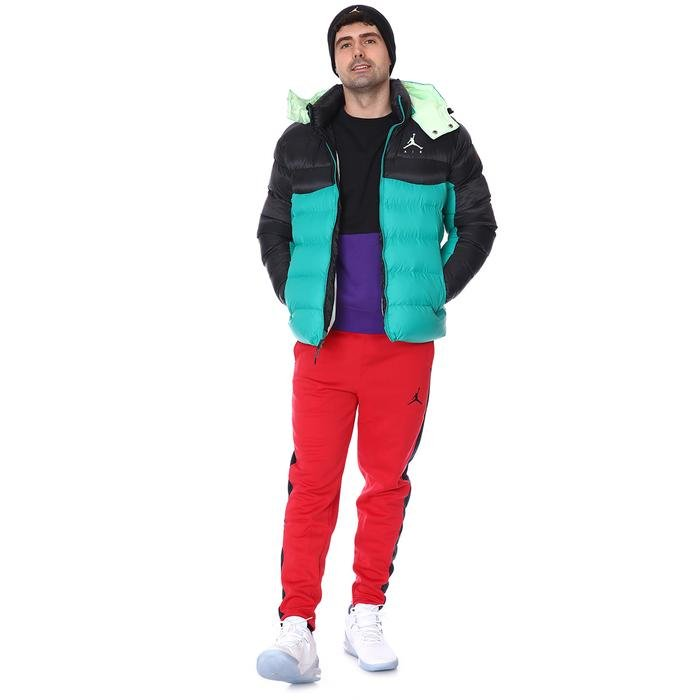 Jordan NBA Jumpman Air Puffer Erkek Yeşil Basketbol Ceket CK6885-370 1234045