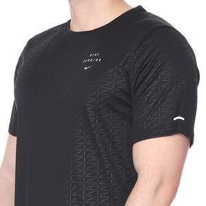 Run Dvn Miler Ss Emb Erkek Siyah Koşu Tişört CU7880-010