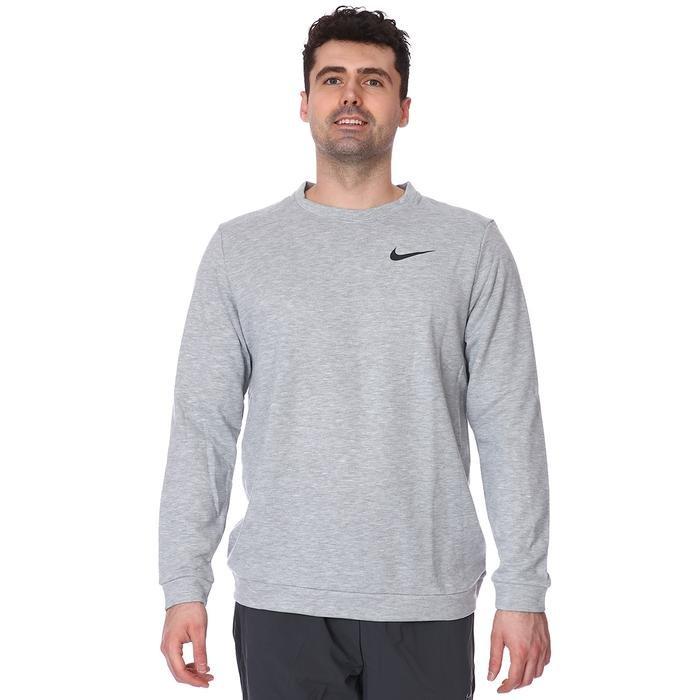 M Nk Dry Fleece Crew Erkek Siyah Futbol Uzun Kollu Tişört CU6795-063 1233412