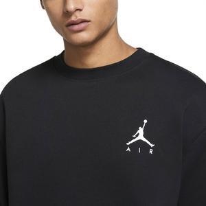 Jordan NBA Jumpman Air Fleece Crew Erkek Siyah Basketbol Uzun Kollu Tişört CT3455-011