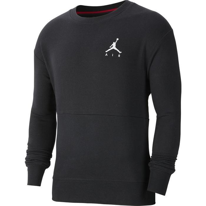 Jordan NBA Jumpman Air Fleece Crew Erkek Siyah Basketbol Uzun Kollu Tişört CT3455-011 1233615