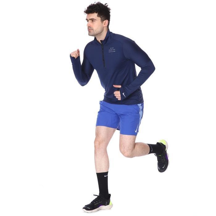 M Nk Run Dvn Elmnt Hz Gx Flsh Erkek Mavi Koşu Uzun Kollu Tişört CU7852-410 1233826