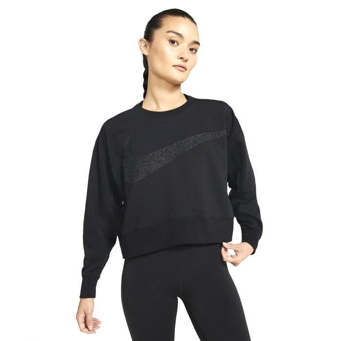 W Nk Dy Get Fit Fc C Pp1 Sprkl Kadın Siyah Antrenman Uzun Kollu Tişört CU9014-010 1233630