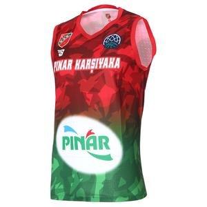 Karşıyaka Camo Erkek Yeşil Basketbol Forma TKY100170-YSL