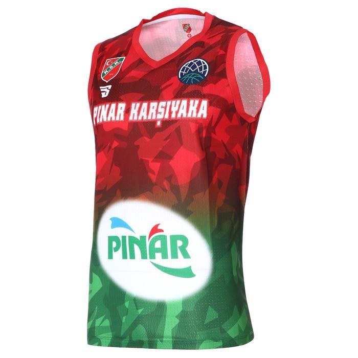 Karşıyaka Camo Erkek Yeşil Basketbol Forma TKY100170-YSL 1267135