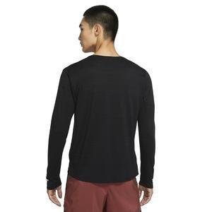 M Nk Df Miler Top Ls Erkek Siyah Koşu Uzun Kollu Tişört CU5989-010