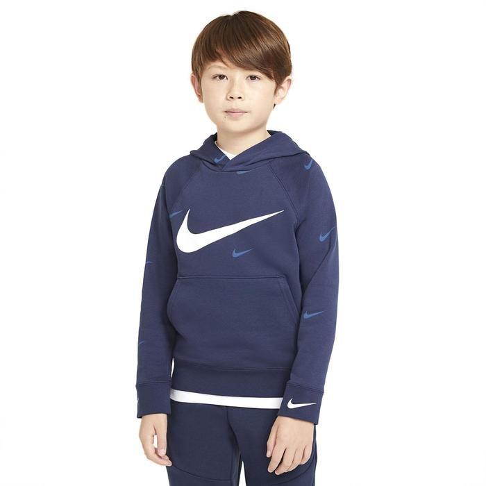 B Nsw Flc Swoosh Çocuk Mavi Günlük Stil Sweatshirt DA0774-410 1274408