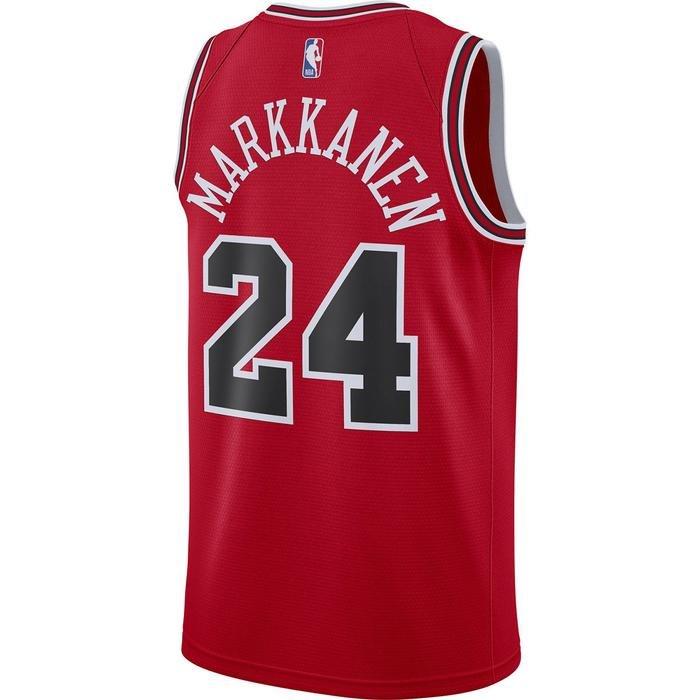 Lauri Markkanen Bulls Icon Edition NBA Erkek Kırmızı Basketbol Atlet CW3660-658 1274940