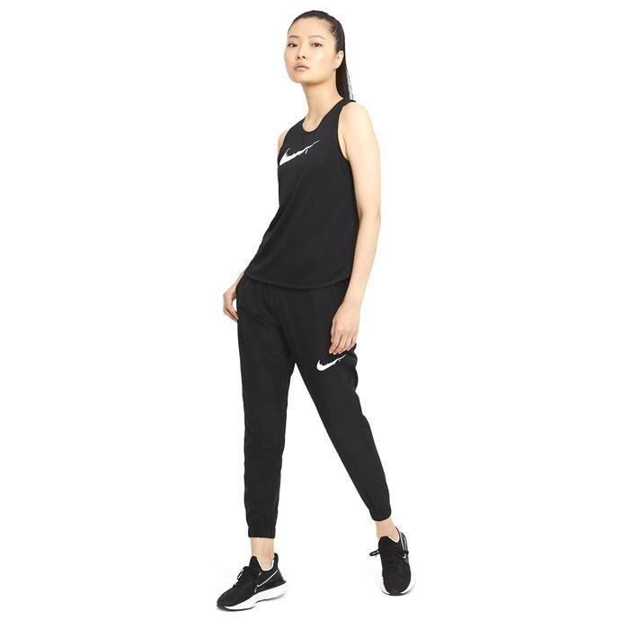 W Nk Swoosh Run Trk Pant Kadın Siyah Koşu Eşofman Altı DA1147-010 1273311
