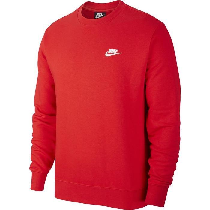 M Nsw Club Crw Ft Erkek Kırmızı Günlük Stil Uzun Kollu Tişört BV2666-657 1274229