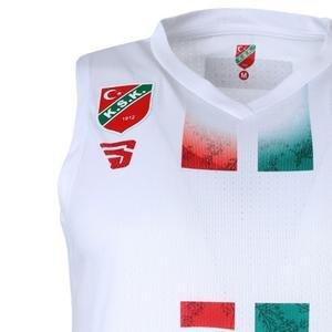Karşıyaka Erkek Beyaz Basketbol Maç Forması TKY100148-BYZ-KSK
