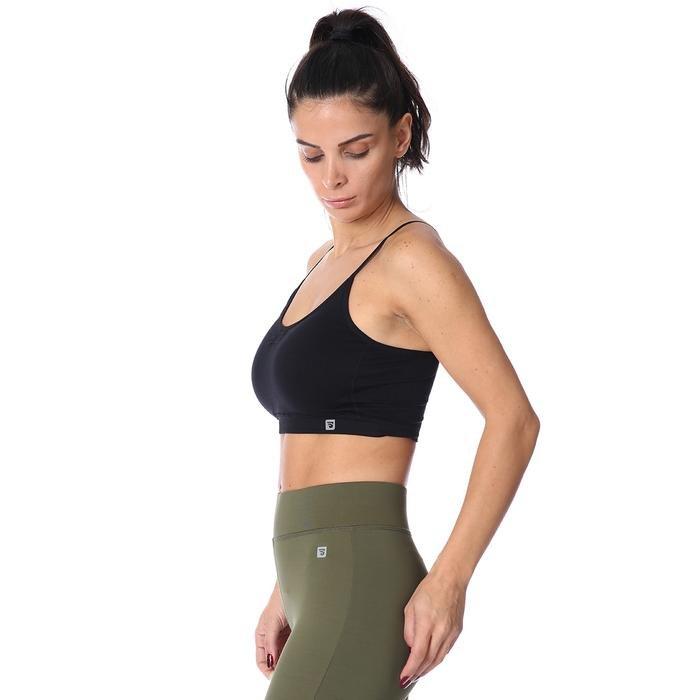 Spo-Seambraz Kadın Siyah Yoga - Pilates Sporcu Sütyeni 710031-00B-SP 1278875