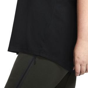 Tee Essntl Futura Plus Kadın Siyah Antrenman Tişört CJ2301-010